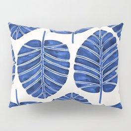 Elephant Ear Alocasia – Navy Palette Pillow Sham
