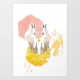Siamese Mountain Goat Art Print