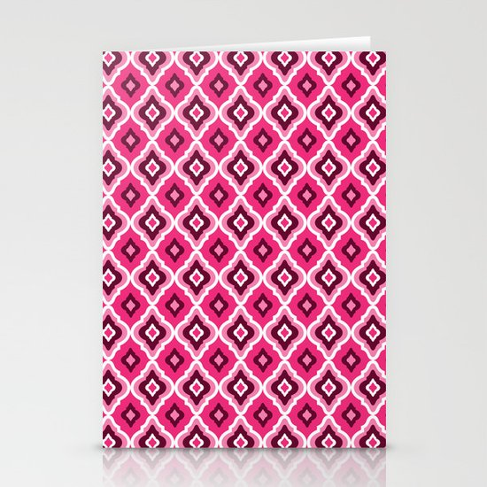 Morrocan Manor in Pink Stationery Cards