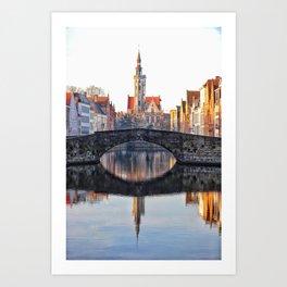Belgium, City Canal 6 Art Print