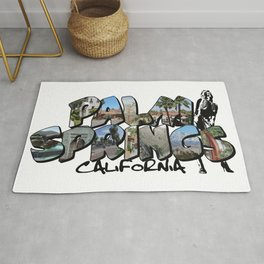 Big Letter Palm Springs California Rug