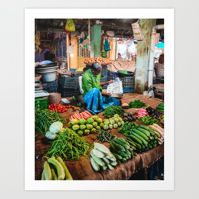 Pondicherry Market Art Print