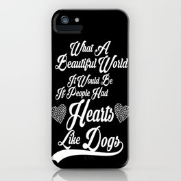 Heart like Dogs (white) iPhone Case