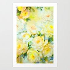Shabby Chic Yellow Art Print
