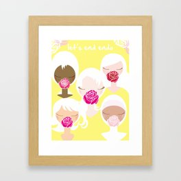 Let's End Endo - It's Okay to Talk Framed Art Print