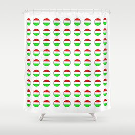 flag of hungary  5 -hungary, hungarian, magyar,Magyarország, hungria,Budapest Shower Curtain