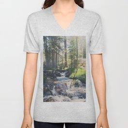 a mountain stream ... Unisex V-Neck