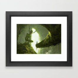How do you mean you don't wanna go outside? Framed Art Print