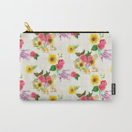 Bunnies & Lavender Carry-All Pouch