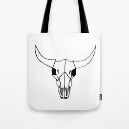 Minimalist Steer Tote Bag