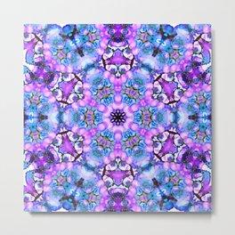 Ultra violet blue mandala Metal Print