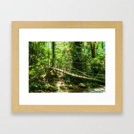 GREEN BRIGDE Framed Art Print