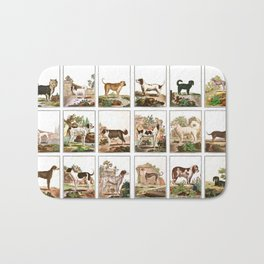 Dogs In Vintage Style Bath Mat