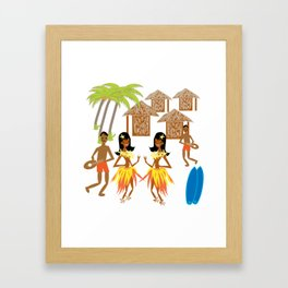 Hawaiian fun pattern-1 Framed Art Print