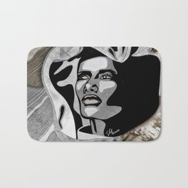 """Grand Dame Grace"" by carographic - Carolyn Mielke Bath Mat"