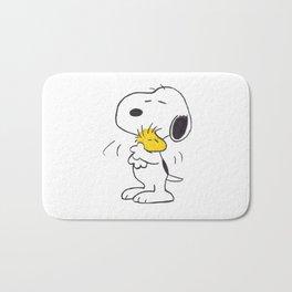 hug Peanuts Snoopy Bath Mat