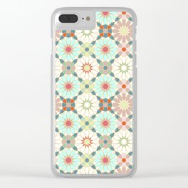 moroccan light zellij Clear iPhone Case