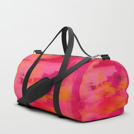 """Abstract brushstrokes in pastel pinks and solar orange"" Duffle Bag"