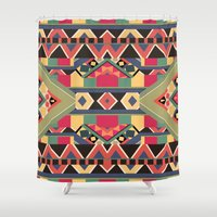 boy Shower Curtains featuring B / O / L / D by Bianca Green