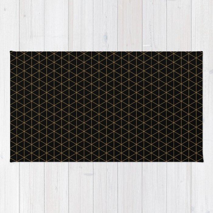 Dark night hidden stars Patterns Design Rug
