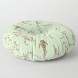 Girls In Color With Boobs Floor Pillow