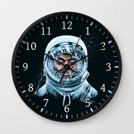 Zombie Spaceman Wall Clock