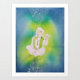 Meditating Yogi Art Print