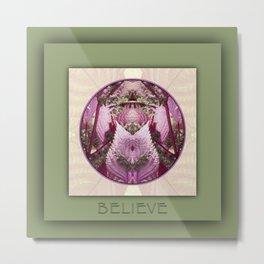 Believe Manifestation Mandala No. 2 Metal Print