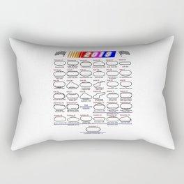 Schedule Nascar Cup Series 2019 Rectangular Pillow