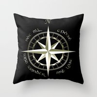 gondor Throw Pillows featuring Not all those who wander are lost - J.R.R Tolkien - 2 by Augustinet