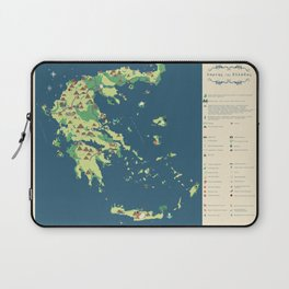 MAP OF GREECE Laptop Sleeve