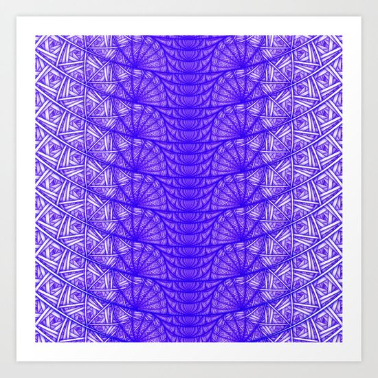 Snakeskin, Purple Art Print