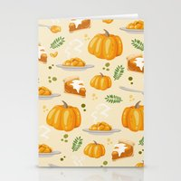 pumpkin Stationery Cards featuring pumpkin by Ceren Aksu Dikenci
