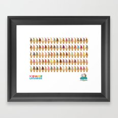 Kawaii 100 Soft Serve Ice Cream Cone Combinations  Framed Art Print