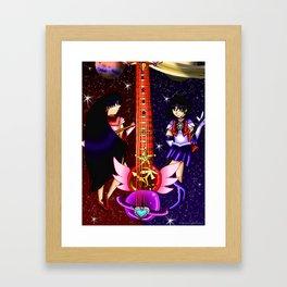 Fusion Sailor Moon Guitar #27 - Sailor Mars & Sailor Saturn Framed Art Print