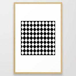 HARLEQUIN BLACK AND WHITE PATTERN #2 Framed Art Print