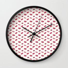 Woman lips pattern Wall Clock