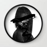 scream Wall Clocks featuring Scream  by Benson Koo
