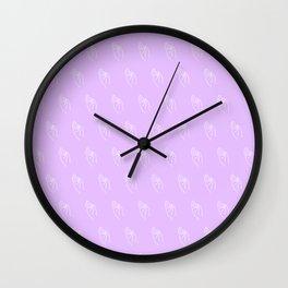 F ((lilac)) Wall Clock