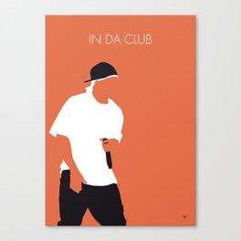 No153 MY 50 Cent Minimal Music poster Canvas Print