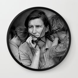 Migrant Mother - The Great Depression Wall Clock