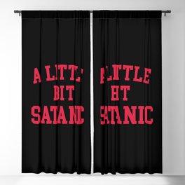 A Little Bit Satanic Funny Quote Blackout Curtain