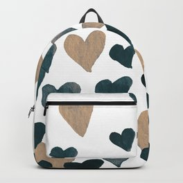 Valentine's Day Watercolor Hearts - neutral Backpack