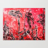 in the flesh Canvas Prints featuring Flesh of my Flesh by Dorian Monsalve - Surreal Scratchart