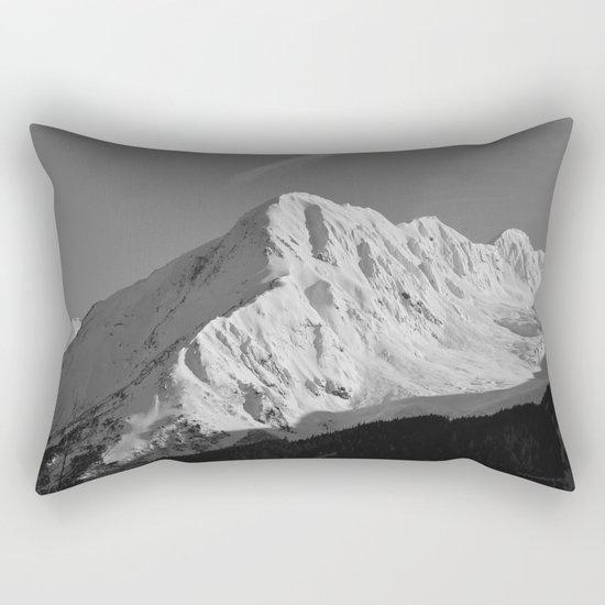 Portage Valley Mountain Glacier - B & W Rectangular Pillow