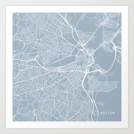 Boston Map, USA - Slate Art Print