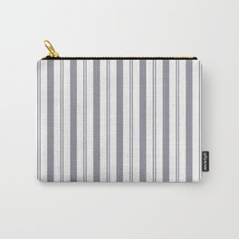 Pantone Lilac Gray & White Wide & Narrow Vertical Lines Stripe Pattern Carry-All Pouch