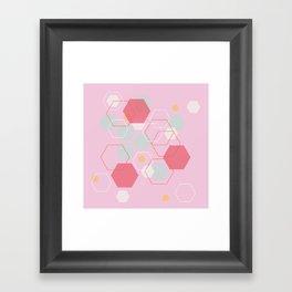 Hexagon Sweetarts Framed Art Print