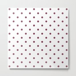 Polka Dots Pattern: Mulberry Metal Print