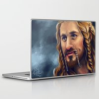 fili Laptop & iPad Skins featuring Fili-Blue and gold by Faerytale-Wings